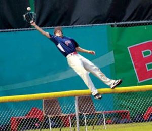 Home Run Over Fence